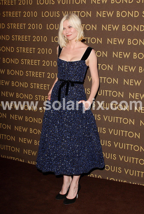 **ALL ROUND PICTURES FROM SOLARPIX.COM**.**WORLDWIDE SYNDICATION RIGHTS**.arrivals at the Louis Vuitton Bond Street Maison After Party in London, UK. 25 May 2010..This pic: Kirsten Dunst..JOB REF: 11314 LNJ     DATE: 25_05_2010.**MUST CREDIT SOLARPIX.COM OR DOUBLE FEE WILL BE CHARGED**.**MUST NOTIFY SOLARPIX OF ONLINE USAGE**.**CALL US ON: +34 952 811 768 or LOW RATE FROM UK 0844 617 7637**