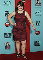 HOLLYWOOD, LOS ANGELES, CA, USA - OCTOBER 05: Jamie Brewer arrives at the Los Angeles Premiere Screening Of FX's 'American Horror Story: Freak Show' held at the TCL Chinese Theatre on October 5, 2014 in Hollywood, Los Angeles, California, United States. (Photo by Celebrity Monitor)
