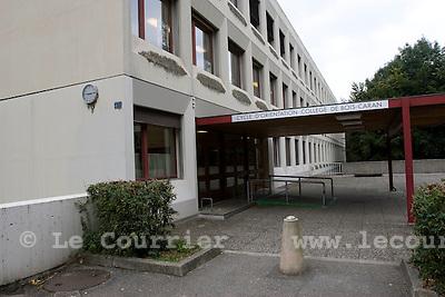 Genève, le 26.09.2008.Cycle d'orientation de bois-caran..© Le Courrier / J.-P. Di Silvestro