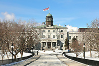 Pavillon des Arts, built in 1843, the oldest building of McGill University, in Montreal, Quebec, Canada. The Arts Pavilion houses the Departments of English, French Language and Literature, Art History and Communication Studies. Picture by Manuel Cohen