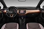 Stock photo of straight dashboard view of 2018 Seat Ibiza Xcellence 5 Door Hatchback