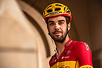Jesus Herrada (ESP) Cofidis at sign on before the start of Stage 5 of the 2018 Tour of Oman running 152km from Sam'il to Jabal Al Akhdhar. 17th February 2018.<br /> Picture: ASO/Muscat Municipality/Kare Dehlie Thorstad | Cyclefile<br /> <br /> <br /> All photos usage must carry mandatory copyright credit (&copy; Cyclefile | ASO/Muscat Municipality/Kare Dehlie Thorstad)