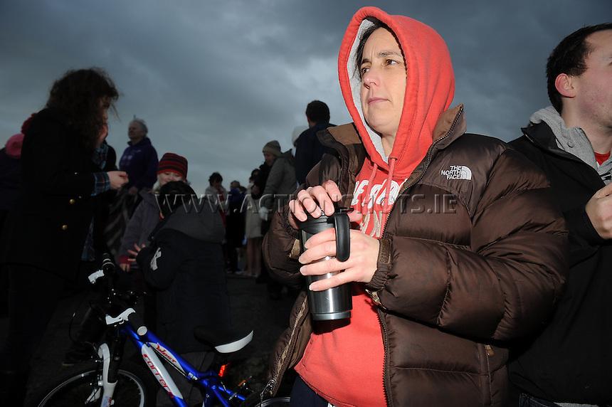 25/12/2013. Jean Mackey at  Blackrock. Galway, Ireland. Christmas day Charity swim at Blackrock, Salthill