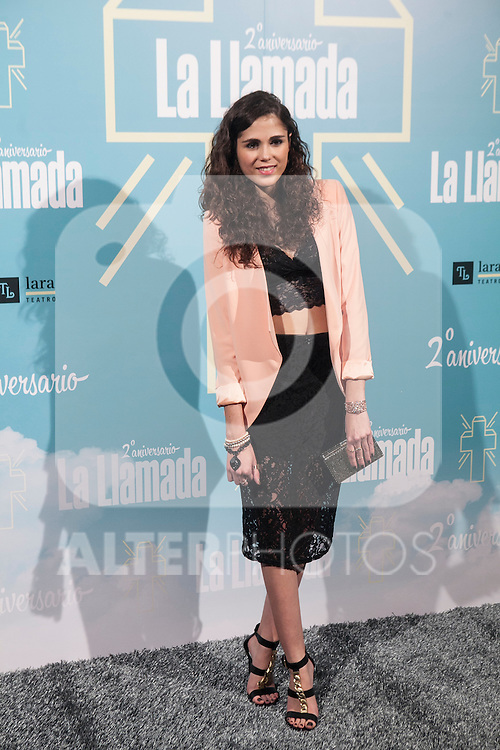 Sandra Martin attends La Llamada theater play in Madrid, Spain. April 15, 2015. (ALTERPHOTOS/Victor Blanco)