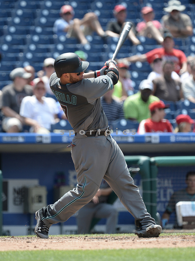 Arizona Diamondbacks Welington Castillo (7) during a game against the Philadelphia Phillies on June 20, 2016 at Citizens Bank Park in Philadelphia, PA. The Diamondbacks beat the Phillies 3-1.