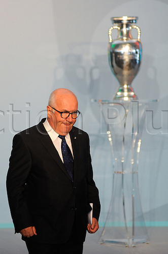 22.09.2016. Rome, Italy. Presentation of Rome's Euro2020 Logo for the event. The FIGC president Carlo Tavecchio