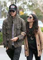 Lovebirds Vanessa Hudgens and Austin Butler spotted on their way to an office building in Marina del Rey today. Vanessa kept it warm in a brown wool jacket with wide sleeves and carried a quilted Chanel bag. Los Angeles, California on 01.05.2012..Credit: Correa/face to face.. /MediaPunch Inc. ***FOR USA ONLY*** **SOLO*VENTA*EN*MEXICO**
