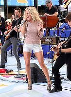 August 15, 2012 Carrie Underwood performs on NBC's Today Show Toyota Concert Series at Rockefeller Center in New York City. &copy; RW/MediaPunch Inc. /NortePhoto.com<br />
