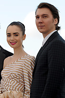 Paul Dano and Lily Collins at the Photocall &acute;OKJA` - 70th Cannes Film Festival on May 19, 2017 in Cannes, France.<br /> CAP/LAF<br /> &copy;Lafitte/Capital Pictures /MediaPunch ***NORTH AND SOUTH AMERICAS, CANADA and MEXICO ONLY***