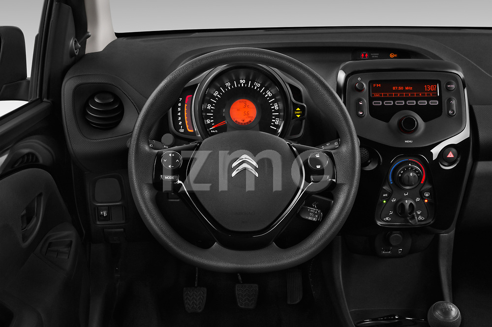 Car pictures of steering wheel view of a 2018 Citroen C1 Feel 5 Door Hatchback