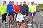 CYCLISH: Local cyclists who cycled in the 50K Cycly for to raise funds for the ballyheigue Rowing Club on Saturday. Front Dominik Vilagi. Back l-r: John Joe Roche,Padraig Quane, Jim Costello, Philip Tyndall, Terry O'Connor, Patrick Spillane, John Foley and Aidan Silles.