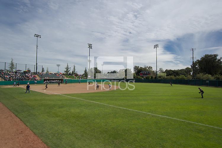 Stanford, CA, March 9, 2014<br /> Stanford Women's Softball vs Davis, Stanford won 3-2.