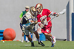 Costa Mesa, CA 03/08/14 - Sean Cannizzaro (Denver #44) in action during the Notre Dame Irish and Denver Pioneers NCAA Men's lacrosse game at LeBard Stadium in Costa Mesa, California as part of the 2014 Pacific Coast Shootout.  Denver defeated Notre Dame 10-7 in front of a crowd of over 5800 spectators.