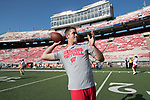 Wisconsin Badgers backup quarterback Jack Coan (10) throws a pass prior to an NCAA College Football game against the Florida Atlantic Owls Saturday, September 9, 2017, in Madison, Wis. The Badgers won 31-14. (Photo by David Stluka)