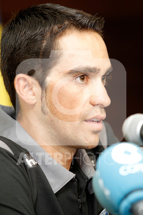 Alberto Contador in press conference during the rest day of La Vuelta 2012.August 27,2012. (ALTERPHOTOS/Acero)