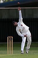 Usmaan in bowling action for Barking during Barking CC (Fielding) vs Redbridge CC, Essex County League Cricket at Mayesbrook Park on 25th May 2019