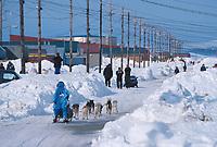 D Jonrowe Arriving in Shaktoolik 2000 Iditarod AK