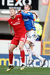 03.03.2019 Aberdeen v Rangers: Sam Cosgrove elbows Borna Barisic