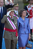Spanish Royals King Juan Carlos of Spain, Queen Sofia of Spain<br /> Regina Sofia, Re Juan Carlos <br /> Madrid 08-06-2014 <br /> Giornata nazionale delle forze armate di Spagna <br /> Foto ALTERPHOTOS/Victor Blanco/Insidefoto