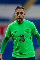 Daryl Murphy during Republic of Ireland training ahead of the World Cup Qualification match against Wales at Cardiff City Stadium, Cardiff, Wales on 8 October 2017. Photo by Mark  Hawkins.