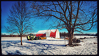 Braun Farm in Westerville Ohio in winter.