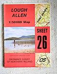 Discoverer series 1:50,000 ordnance survey map of Lough Allen, Northern Ireland sheet 26