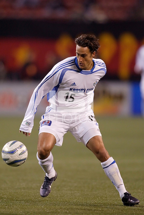 The Wizards' Josh Wolff. The MetroStars and the Kansas City Wizards played to a two all tie at Giant's Stadium, East Rutherford, NJ, on Saturday April 16, 2005.