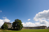 The Royal Crescent, Bath, UK, February 16, 2016. The UNESCO World Heritage city of Bath is famed for its hot spa that dates back to Roman times and for its Georgian architecture. For much of its history the city has been a popular holiday resort. It is the only hot spa in the UK.