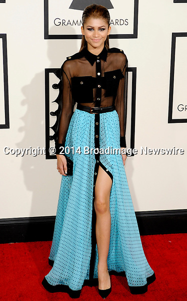 Pictured: Zendaya Coleman<br /> Mandatory Credit &copy; Adhemar Sburlati/Broadimage<br /> The Grammy Awards  2014 - Arrivals<br /> <br /> 1/26/14, Los Angeles, California, United States of America<br /> <br /> Broadimage Newswire<br /> Los Angeles 1+  (310) 301-1027<br /> New York      1+  (646) 827-9134<br /> sales@broadimage.com<br /> http://www.broadimage.com