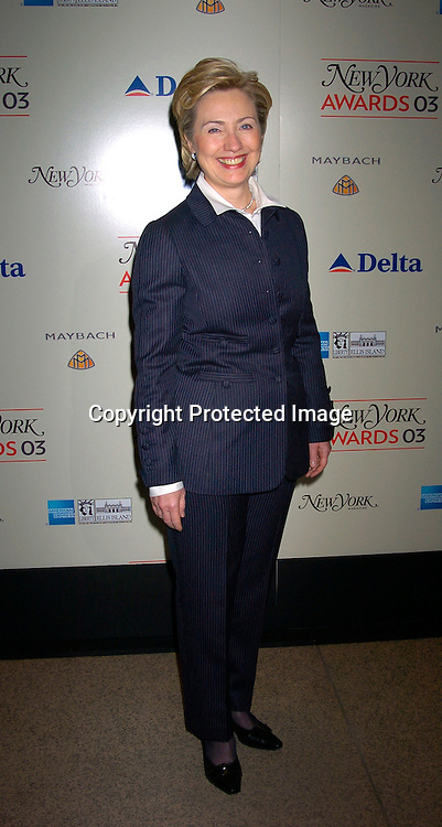 Hillary Rodham  Clinton..at the 2003 New York Magazine Awards on December 15, 2003 at the Four Seasons Restaurant . Photo by Robin Platzer, Twin Images