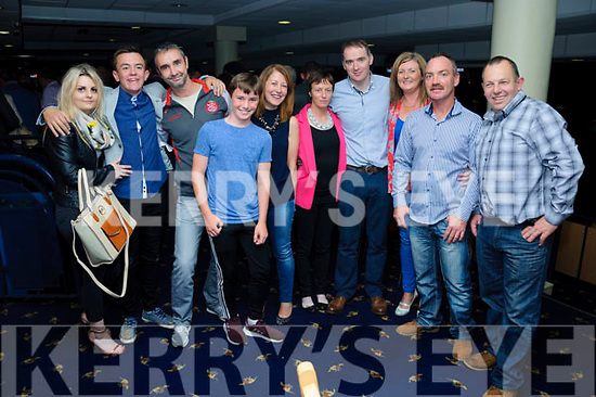 Charlotte Browne, Adam O'Sullivan, Neil, Niall and Noel Heaton, Trish and Donal O'Driscoll, Mags Costello and Tomy and Jerome O'Sullivan had a blast at The Crotta O'Neill's fundraiser night at The Kingdom Greyhound Stadium on Saturday evening.