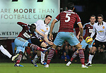 West Ham's Cheikhou Kouyate scoring his sides opening goal<br /> <br /> Barclays Premier League- West Ham United vs Manchester United  - Upton Park - England - 8th February 2015 - Picture David Klein/Sportimage