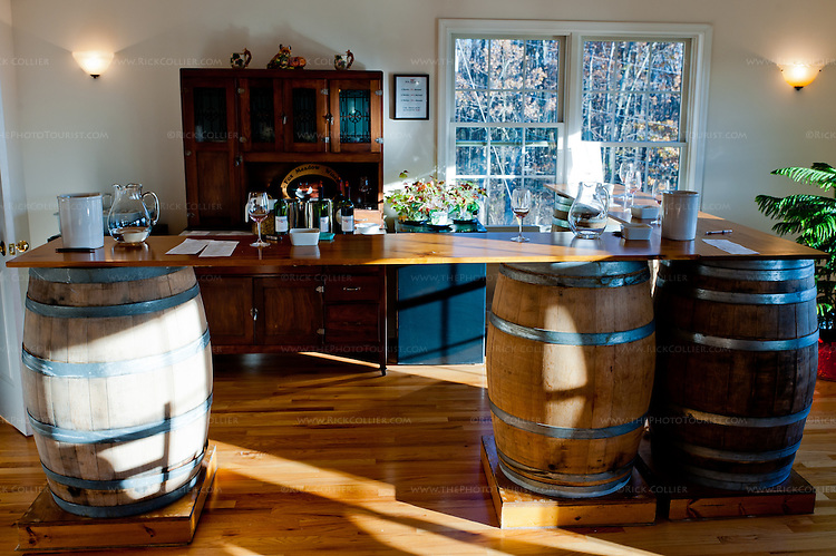 The Winery at Fox Meadow has set up a second small tasting bar to handle overflow groups on busy days in the tasting room.