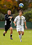 17 October 2007: The University of Vermont Catamounts' Panos Georgiadis, a Senior from Morrisville, VT, in action against the University of Maryland Retreivers at Historic Centennial Field in Burlington, Vermont. The Catamounts and Retrievers battled to a scoreless, double-overtime tie...Mandatory Photo Credit: Ed Wolfstein Photo
