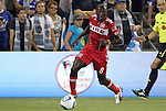 09 June 2011: Chicago's Dominic Oduro (GHA). Sporting Kansas City played the Chicago Fire to a 0-0 tie in the inaugural game at LIVESTRONG Sporting Park in Kansas City, Kansas in a 2011 regular season Major League Soccer game.