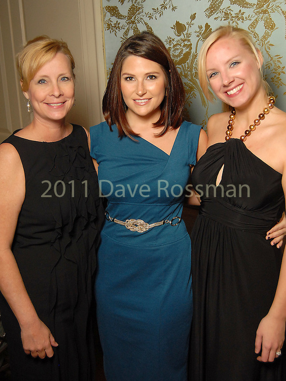 From left: Lisa Lansford, Ariana Alvarez and Linsay Scott (cq) at the Night of Stars Gala honoring Houston's top fashion designers at the Junior League of Houston Tuesday Nov. 03,2009. (Dave Rossman/For the Chronicle)