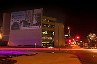 Austin Police Department Headquarters Building at night.<br />