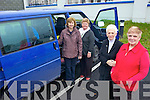 ALL ABOARD: Members of the Alzheimer's support group who are looking for volunteers for a new bus service to bring people Listowel Family Resource Centre, l-r: Bridie Mulvihill (Listowel FRC), Helen Twomey, Teresa Roche, Kitty McElligott.