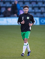 Liam Shephard of Yeovil Town warms up before the Sky Bet League 2 match between Wycombe Wanderers and Yeovil Town at Adams Park, High Wycombe, England on 14 January 2017. Photo by Andy Rowland / PRiME Media Images.