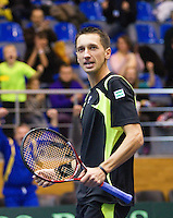 06-03-11, Tennis, Oekraine, Kharkov, Daviscup, Oekraine - Netherlands,   Sergey Stakhovsky