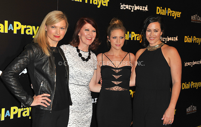 WWW.ACEPIXS.COM<br /> <br /> April 7, 2015, LA<br /> <br /> Nicole Forester, Kate Flannery, Brittany Snow, Maggie Kiley arriving at the 'Dial A Prayer' premiere at the Landmark Theater on April 7, 2015 in Los Angeles, California.<br /> <br /> By Line: Peter West/ACE Pictures<br /> <br /> <br /> ACE Pictures, Inc.<br /> tel: 646 769 0430<br /> Email: info@acepixs.com<br /> www.acepixs.com
