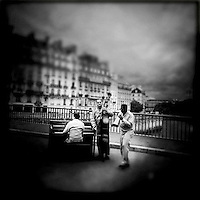 Street musicians in Paris, France, September 2011...Photo by Roberto Candia