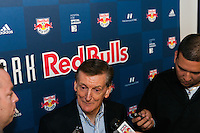 New York Red Bulls sporting director Andy Roxburgh is interviewed at Red Bull Arena in Harrison, NJ, on January 24, 2014.