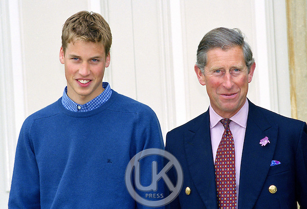 PRINCE WILLIAM, ACCOMPANIED BY THE PRINCE OF WALES & PRINCE HARRY, ATTENDS A PHOTOCALL AT HIGHGROVE TO CELEBRATE HIS LEARING TO DRIVE..PICTURE: UK PRESS