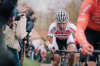 Stijn Devolder (BEL/Corendon-Circus) up the Molenberg<br /> <br /> 74th Omloop Het Nieuwsblad 2019 <br /> Gent to Ninove (BEL): 200km<br /> <br /> ©kramon