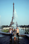 Eiffel Tower & Tourists Enjoying Thier Time In Paris