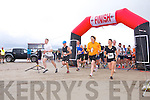 The Start at the  The Brandon Bay half marathon and 10k run, Ireland's first and only running event entirely run on a beach,  in the Maharees, Castlegregory,  on Saturday
