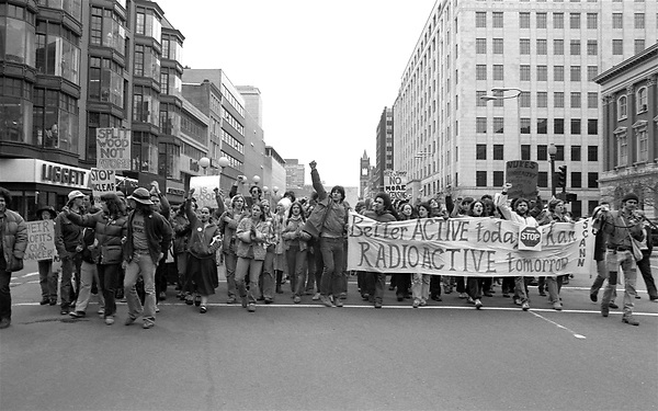 Anti nuclear demonstration in Boston MA 4.4.79 after Three Mile Island accident and partial meltdown near Harrisburg PA