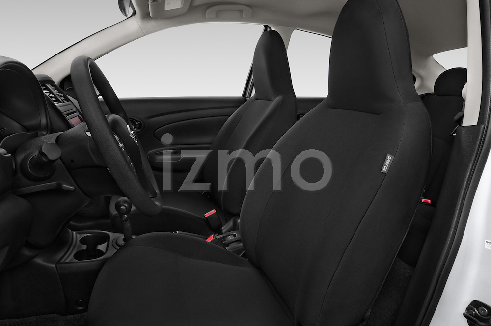 Front seat view of a 2015 Nissan Versa 1.6 Sv Cvt 4 Door Sedan front seat car photos