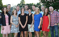 NWA Democrat-Gazette/CARIN SCHOPPMEYER Heather and Mike Philip(cq no s) (from left), Tracy and Scott Farmer, Kelsey and Tyler Bottje and Joyce and Davis Pollard, Kate and Tony Katzer help support the Botanical Garden of the Ozarks.